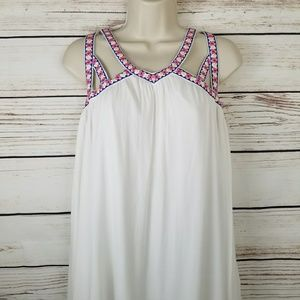 Flying Tomato Embroidered Floral Strappy Dress